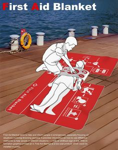 Everybody should know basic First Aid, but few people actually do. Sure we've all seen people being resuscitated in movies, but would you actually know what to do in real life? Well, while this First Aid Blanket won't compensate for proper First Aid training, it might still help you to save somebody's life.