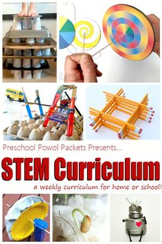 A STEM Curriculum to fit any schedule! These projects, and challenges can all integrate science, technology, engineering, and math into fun activities that help your children and students investigate and discover their world! Perfect for preschool, elementary, and middle school!