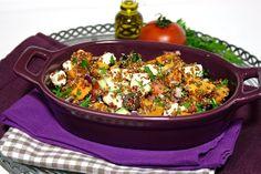 Cinco Quartos de Laranja: Salada de quinoa vermelha com batata-doce