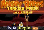Angry Birds Volcano: Juego de Angry Birds, esta vez viene con la version Volcano, el clásico tiro para poder derribar a los malvados cochinitos que te han robado el tesoro, los pájaros están muy enejados