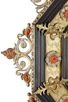 18th c. Gilt bronze, enamel, and coral. (Detail)