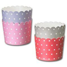 Pappersform av kraftigare papp för att baka muffins och cupcakes.Bottenstorlek Ø 6 cm, höjd 5,5 cm. Behandlad insida för att bättre stå emot fett och vätska. Levereras i set om fyra färger, ljusblå, grå, rosa och röd.