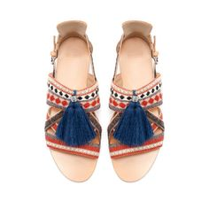 SANDALS WITH TASSELS from Zara