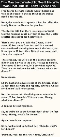 Man Thinks His Wife Might Be Deaf But What Happened Next Was Hilarious