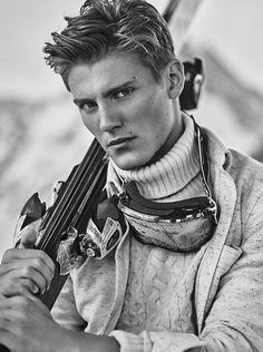 Mikkel Jensen by Hunter & Gatti for the Massimo Dutti's Apres Ski limited collection Fall Winter 2015 Campaign
