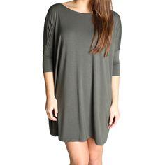 Army Green Piko Tunic Half Sleeve Dress size small