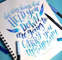 held you down lift you up Calligraphy Quotes Doodles, Brush Lettering Quotes, Calligraphy Drawing, Hand Lettering Styles, Watercolor Lettering, Hand Lettering Quotes, Calligraphy Handwriting, Calligraphy Letters, Wreath Drawing