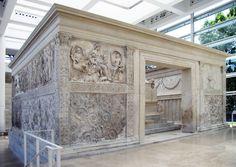 L'Ara Pacis Augustae è un altare dedicato da Augusto nel 9 a.C. alla Pace, nella sua accezione di divinità, e originariamente posto in una zona del Campo Marzio consacrata alla celebrazione delle vittorie. Questo monumento rappresenta una delle più significative testimonianze pervenuteci dell'arte augustea ed intende simboleggiare la pace e la prosperità raggiunte come risultato della Pax Romana.