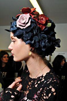 Floral headpiece by Dolce & Gabbana.