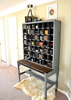 Vintage Storage...I've Always been on the lookout for an old card catalog for our home. I like the way this is repurposed