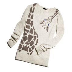 Giraffe sweater. I'm kinda in love with this