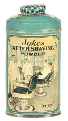 Sykes Aftershaving Powder Tin | Antique Advertising Value and Price Guide