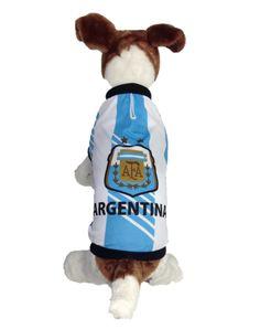 Argentina Dog Soccer Jersey- Sports t-shirt for Copa America Centenario 2016