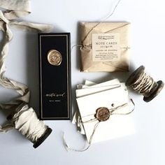 white with gold seal calligraphy wax seals, handmade paper, rustic twine, hand-dyed silk ribbon Pretty Packaging, Gift Packaging, Wedding Packaging, Packaging Design, Shampoo Diy, Do It Yourself Quotes, Wedding Stationery, Wedding Invitations, Silk And Willow
