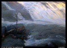 waterfall at sunrise in High Falls State Park. Georgia