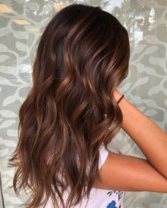 60 Hairstyles Featuring Dark Brown Hair with Highlights Hair Color chestnut hair color Rich Brown Hair, Brown Hair With Caramel Highlights, Chestnut Brown Hair, Brown Hair Balayage, Brown Blonde Hair, Hair Color Balayage, Brunette Hair, Hair Highlights, Dark Brown