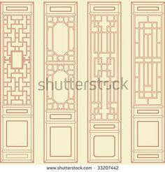 Find Vector Traditional Chinese Classic Window Door stock images in HD and millions of other royalty-free stock photos, illustrations and vectors in the Shutterstock collection. Asian Windows, Asian Doors, Windows And Doors, Chinese Design, Chinese Style, Traditional Chinese, Asian Bedroom Decor, Classic Window, Asian Interior