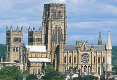 Durham Cathedral  (Cathedral Church of Christ the Blessed Virgin Mary and St Cuthbert)  Durham, Province of York, England    Durham Cathedral has been described as one of the great architectural experiences of Europe, and is renowned as a masterpiece of Romanesque (or Norman) architecture.