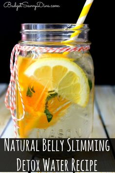 Natural+Belly+Slimming+Detox+Water+Recipe orange lemon mint