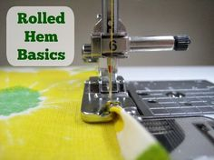 Tutorial: Make a rolled hem on your sewing machine