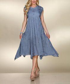 bb238ef70 Loving this Gray Pin Tuck-Detail Notch Neck Dress on  zulily!  zulilyfinds
