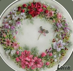 Wonderful Ribbon Embroidery Flowers by Hand Ideas. Enchanting Ribbon Embroidery Flowers by Hand Ideas. Ribbon Embroidery Tutorial, Silk Ribbon Embroidery, Crewel Embroidery, Embroidery Patterns, Embroidery Supplies, Embroidered Silk, Machine Embroidery, Ribbon Art, Ribbon Crafts