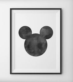 INSTANT DOWNLOAD: Mickey Mouse Ears Disney Black & White WaterColor, Gray Water Color Disney Print, Black and White Minimal Disney Digital Print A lot of people have been asking us to do something like this, and we finally delivered! When you take 3 circles and apply them into a certain