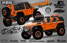 OMIX-ADA has revealed that they will be displaying 2012 edition of Jeep Wrangler Unlimited Rubicon 4x4 in a new avatar at the SEMA Motor Show, which is scheduled to take place from October 30 to November 2, 2012. Jeep builder Dave Doetsch has taken the vehicle in hand and has named it 'Crush Recovery'.  This 2012 Jeep Wrangler Unlimited Rubicon painted a bright orange will be on display at OMIX/Rugged Ridge Off-Road Success Centre.