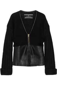 By Malene Birger Elianis mohair-blend and leather cardigan - 50% Off Now at THE OUTNET