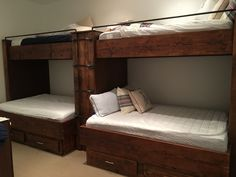 This set is our Aspen Contemporary Set that was made and delivered to Aspen, Colorado.  Twin over Full Double Set. Learn more and Shop at blackdiamondbunkbeds.com. Bunks are built to support over 600 lbs and are strong enough for adults and couples.  Most bunk beds are made to order.  Sizes include twin over twin, twin over full, twin over queen, full over king, queen over queen, queen over king or king over king. Custom bunk rooms and design assistance is available.