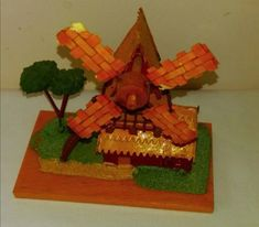 Hand-made Windmill Layout --Traditional European Style-- European Style, European Fashion, Wooden Windmill, Made Of Wood, Traditional House, Craft Supplies, Layout, Etsy Shop, Handmade Gifts