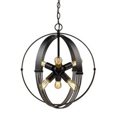 Golden Lighting Carter 7001-6P ABZ Pendant Light - 7001-6P ABZ