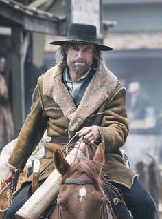 Cullen Bohannon Hell On Wheels Distressed Leather Coat