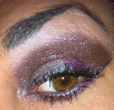 @myprettyzombie Unicorn Pee on my browbone, Hoof and Mouth on outer lid, and Homemade Death on rest of lid, and inner corner, @sugarskullminerals Cry Baby in crease, and under eye Cover Girl Bombshell Mascara, Urban Decay Revolver Eyeliner, and Hard Candy Night Sky Eyeliner