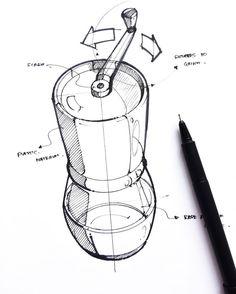 """433 Me gusta, 2 comentarios - INSTILL DESIGN (@instill_design) en Instagram: """"Ceramic coffee mill by @changmaisketches #instilldesign"""""""