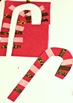 Easy cut out candy cane crafts for kids