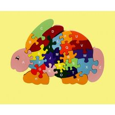 Red Fish Rabbit puzzle encourage creativity and imagination. It helps children develop fine motor skills and hand-eye coordination.