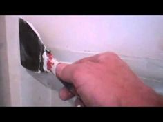 How to tape and float drywall in one day using 20 minute joint compound to hang drywall and patch drywall in one day. How to hang drywall in one day. Drywall Corners, Drywall Tape, Drywall Repair, Hanging Drywall, Manufactured Home Remodel, Laundry Room Remodel, Bonus Rooms, Smooth Walls, Home Repairs