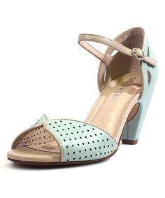 Love this Chelsea Crew Mint Perforated Nicola Pump by Chelsea Crew on #zulily! #zulilyfinds
