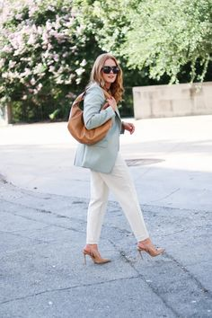 Start Transitioning Your Workwear With This Fall Inspired Blazer - Oh What A Sight To See Summer Work Wear, Autumn Summer, Fall, Full Look, New Wardrobe, Autumn Inspiration, Work Pants, Autumn Fashion