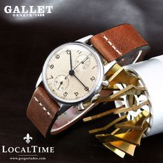 Late 1940 s GALLET  Swiss  Vintage Chronograph Watch Valjoux Cal. 77 SN # 28413