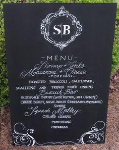 18x24 Wedding Menu Chalkboard Art Bride by TheFancyTypeCompany