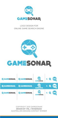 Game Sonar - Online Game Search Engine Logo and Favicon Design Winner