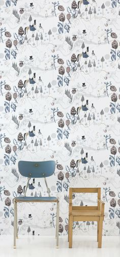 Great new wallpaper with illustrations by Ulrika Gustafsson