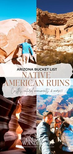 Exploring different cultures is one of the many things we love about traveling. The really amazing thing about the Native American culture is that it can be seen all over the United States. From Native Amerian ruins in Arizona to ancient petroglyphs left carved into rocks – we were amazed! November is National American Indian Heritage Month and in honor of that – we're sharing a few incredible adventures we've had experiencing their culture. Arizona Road Trip, Arizona Travel, Florida Travel, Usa Travel Guide, Travel Usa, Travel Tips, Beautiful Places To Visit, Cool Places To Visit, Us Road Trip