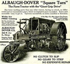 A 1917 ad for an Albaugh-Dover tractor. Farmers were prominent customers of Chicago mail order firms like Albaugh-Dover.