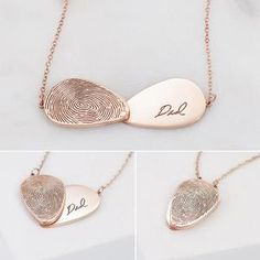 Jewelry Box, Jewelry Making, Unique Jewelry, Rose Gold Locket, Fingerprint Necklace, Custom Name Necklace, Name Bracelet, Gifts For Wedding Party, Bar Necklace