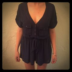 Blue romper with keyhole back and tie Blue romper with keyhole back and tie Urban Outfitters Other