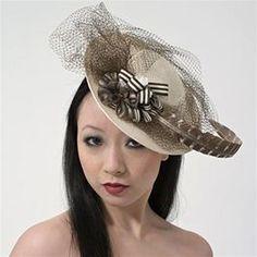 """Gigi"" Fascinator Hat by Ellen Christine   Opera Apparel   Met Opera Shop"