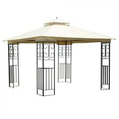 This stylish gazebo is a great way to create an inviting and intimate area in your backyard, patio, or pool area where friends can converse or enjoy a meal beneath. This gazebo features an innovative A.I.M design, a special design which allows it to be Assembled In Minutes.  #Relax #Gazebo #outdoorgazebo